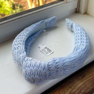 Anthropologie Blue Sweater Knot Headband